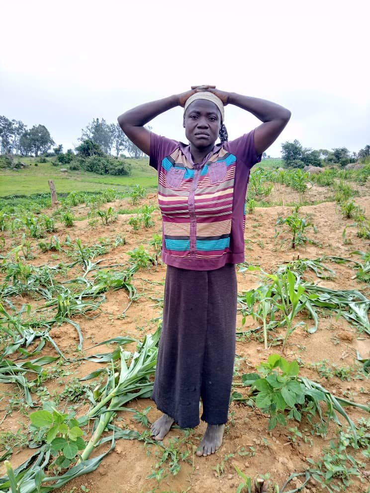 OH LORD, LOOK AT ME WITH EYES OF MERCY- WIDOW OF 5 CRIES OUT OVER CROPS DESTRUCTION